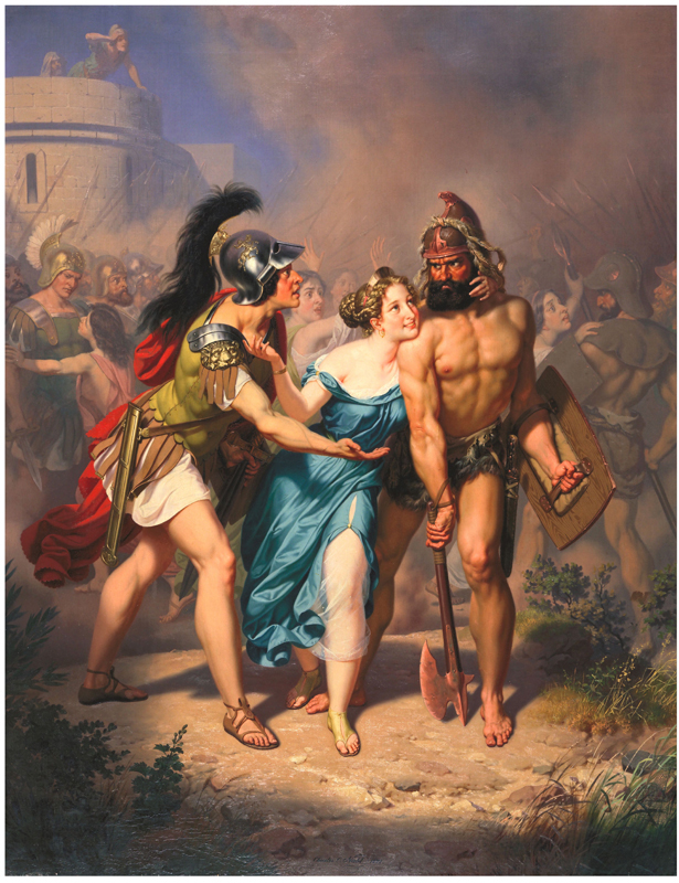 Rape of the Sabines - The Invasion - Nahl, 1871