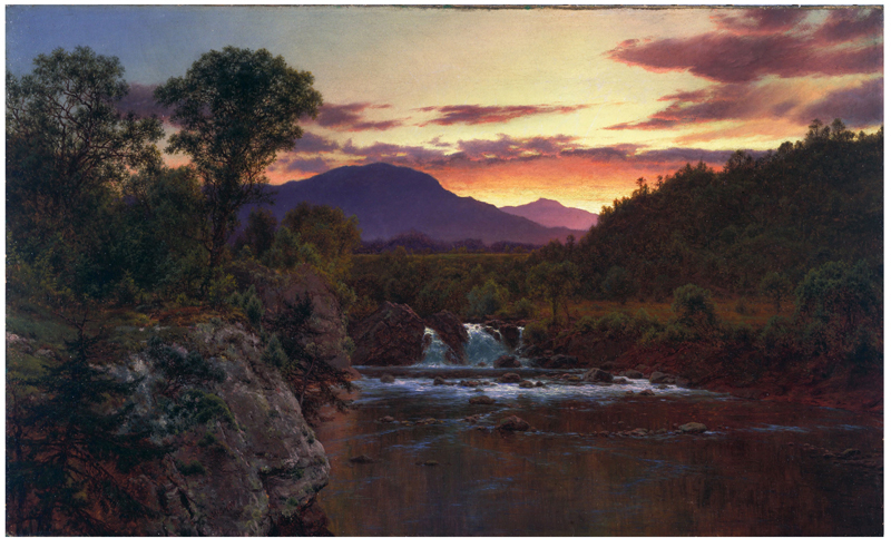Sunset on White Mountains - Mignot