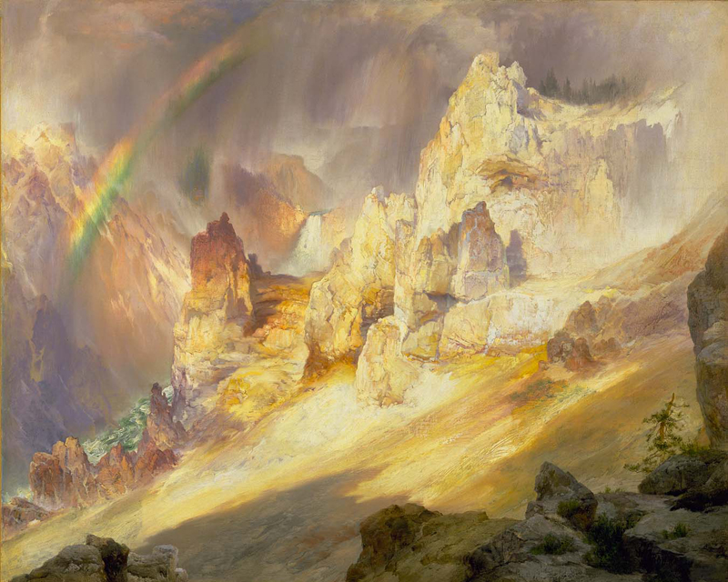 Thomas Moran Rainbow Over the Grand Canyon of the Yellowstone